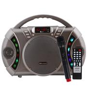 金正 AVS-618J灰 广场舞音响户外蓝牙音箱 插卡扩音器拉杆音箱(灰色)