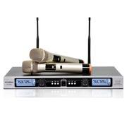 现代 AT-8830 无线麦克风 无线手持话筒 网络电脑K歌双手麦 金色