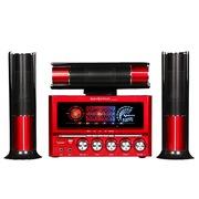 金正 SA-3019 电视迷你组合音响 低音炮环绕木质有源音箱(红色)