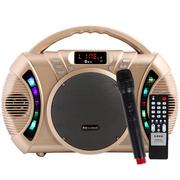 金正 AVS-618J广场舞音响户外蓝牙音箱 插卡扩音器拉杆音箱(金色)
