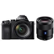 索尼  a7/α7/ILCE-7K 全画幅微单数码相机/单电 WiFi分享 24-70+FE55双镜套装产品图片主图