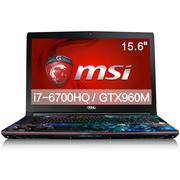 微星  GE62 6QD-237XCN 15.6英寸游戏本电脑(i7-6700HQ 16G 128SSD+1T GTX960M 多彩背光)风暴英雄特饰