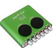 双诺 SK-10出游必备 专业外置声卡USB声卡笔记本台式机电容麦声卡主持喊麦电脑K歌免驱动 绿色