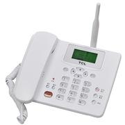 TCL CF203C 有绳中文菜单插卡座机屏幕背光电话机支持电信手机卡(白色)