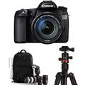 佳能  EOS 70D 单反套机 (EF-S 18-135mm f/3.5-5.6 IS STM镜头)+dostyle 红圈三脚架+相机包