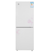 晶弘 BCD-188GL188升两门冰箱玻璃面板节能静音快速制冷一体打U箱体(花韵白)