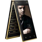 波导 V90 移动4G智能翻盖手机 双卡双待 金黑色