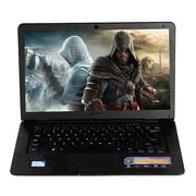 得峰(Deffad) AG19 四核/LOL 14英寸超薄本 手提娱乐影音游戏办公笔记本电脑 四核-黑色-4G内存 500G HDD硬盘