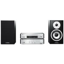 YAMAHA MCR-N770 迷你音响 CD/蓝牙/wifi网络播放机音箱组合套装(功放机A-670)银色产品图片主图