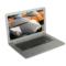 戴睿  D17 14英寸 四核 时尚超薄笔记本电脑  学习影音笔记本 炫白银 四核 4G内存 320G硬盘产品图片3