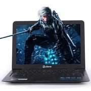 戴睿 D12  四核14英寸  学习办公笔记本电脑 超薄便携笔记本 黑色 四核4G内存 500硬盘