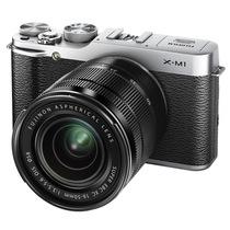 富士  X-M1 (16-50+50-230mm双套头 银色)可换镜头 APS-C CMOS 1600万像素 3.0英寸翻折屏 Wi-Fi产品图片主图