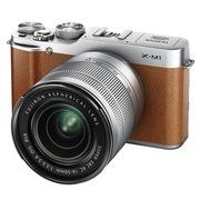 富士  X-M1 (16-50+50-230mm双套头 棕色)可换镜头 APS-C CMOS 1600万像素 3.0英寸翻折屏 Wi-Fi