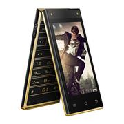 长虹 A100 翻盖 4G手机 移动4G 双屏智能机 黑金色