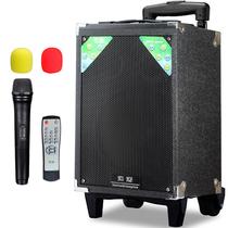 索爱 SA-T18 便携式移动拉杆户外音响 大功率电瓶插卡广场舞音箱 (黑色)产品图片主图