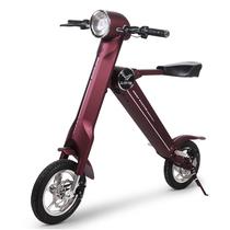 LEHE 标准版 -K2-紫红色 智能代步车 成人便携迷你可折叠锂电电动车 代步车 36V 35公里产品图片主图