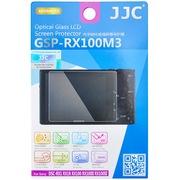 JJC GSP-RX100M3 索尼黑卡RX100 M4 M3 M2 RX100 RX1R RX1专用高透防刮钢化玻璃屏幕保护贴膜 静电液晶膜