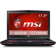微星  GT72S 6QE-487CN 17.3英寸游戏本电脑(i7-6820HK 16G 256GSSD+1T GTX980M 多彩背光)风暴英雄特饰