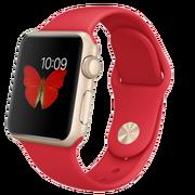 苹果 Apple Watch Sport 智能手表(38mm/金色铝金属表壳/红色运动型表带)春节特别款