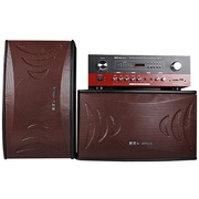 金正 SM-976 家庭KTV音响套装专业舞台会议卡拉ok卡包音箱 (木纹棕)