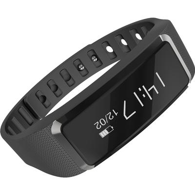 全程通 QCT-W2 智能手环 智能腕带 计步器 来电提醒 微信提示 触控屏幕 运动健康手环 黑色产品图片4