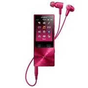 索尼 NW-A25HN mp3无损音乐播放器 波尔多红 高清降噪 含入耳式耳机