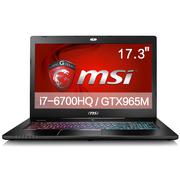 微星 GS72 6QD-041XCN 17.3英寸游戏笔记本电脑 (i7-6700HQ 8G 1T+128GSSD GTX965M 多彩背光) 黑色