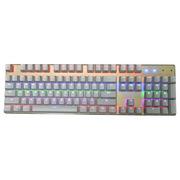 凯酷 灵耀104 香槟金 混光背光键盘 悬浮金属  机械键盘  红轴