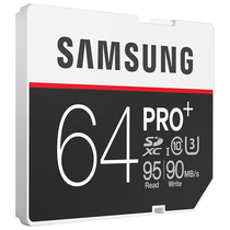 三星 64GB UHS-1 Grade 3(U3) Class10 SD存储卡(读速95MB/s)专业版+产品图片主图