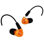 舒跑 GT200挂耳运动耳机 可换线手机音乐耳塞 线控耳麦 透明橙