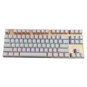 凯酷 灵耀87 香槟金 混光背光键盘 悬浮金属 机械键盘 茶轴