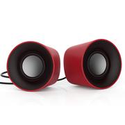风格派 S101 迷你桌面创意usb小音响 2.0笔记本电脑手机音箱 火箭红