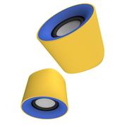 风格派 S101 迷你桌面创意usb小音响 2.0笔记本电脑手机音箱 勇士黄