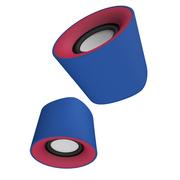 风格派 S101 迷你桌面创意usb小音响 2.0笔记本电脑手机音箱 巴萨蓝