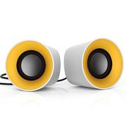 风格派 S101 迷你桌面创意usb小音响 2.0笔记本电脑手机音箱 皇马白