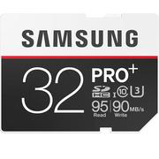 三星 32GB UHS-1 Grade 3(U3) Class10 SD存储卡(读速95MB/s)专业版+
