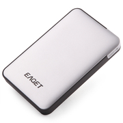 忆捷 E600 2.5英寸 USB3.0高速硬件加密防震移动硬盘 3TB 银色