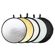 天气不错 五合一反光板/圆形档光板 金色/银色/白色/柔光板/黑色 80cm