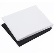 天气不错 摄影背景布/无影布 摄影棚拍照背景纸拍摄道具 1*1.6米白色+黑色套装