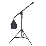 天气不错 摄影灯架+悬臂架套装 顶灯架横臂摄影棚拍照灯附件 带沙袋