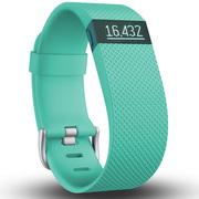 Fitbit Charge HR 智能乐活心率手环 心率实时监测 自动睡眠记录 来电显示 运动蓝牙手表计步器 蓝青色 L