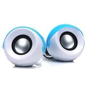 蓝色妖姬 S1800 2.0迷你音响便携USB低音炮套装组合音箱 蓝色