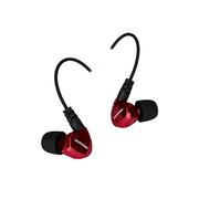 舒跑 GT200挂耳运动耳机 可换线手机音乐耳塞 线控耳麦 酒红色