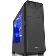 先马 塔里克侧透版黑 游戏电脑机箱(宽大五金/拉丝面板/侧透/U3/支持SSD/380mm长显卡/背线)