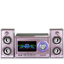 金正 NS-895 迷你音响 音响 2.1声道 电脑音箱 组合音响蓝牙音响(粉色)产品图片主图