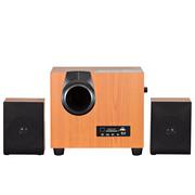 金正 SH508 迷你音响 音响 2.0声道 电脑音箱 组合音响(木色)