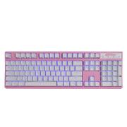 凯酷 104 RGB plus 粉色 混光 机械键盘 游戏背光键盘 黑轴