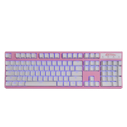 凯酷 104 RGB plus 粉色 混光 机械键盘 游戏背光键盘 红轴