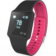 hicling Cling Bio智能运动手表(微信互联+实时心率+体温+铝合金机身+触控屏幕+智能提醒+防水)艳糖果红