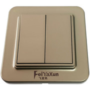 飞亚讯(FeiYaXun) FL-05102 无线动能开关 双键双控多控 无线无绳动能开关